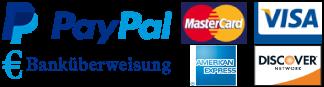 Kreditkarten, Paypal, Zahlung